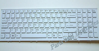 OEM SONY VPCEE33FX//WI VPCEE34FX//WI VPCEE35FX//WI US Keyboard White With Frame NEW