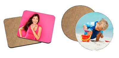 Vendita Calda Pannello Duro Personalizzati (mdf) Coaster Con Qualsiasi Immagine, Foto, Testo-quadrato/rotondo-mostra Il Titolo Originale