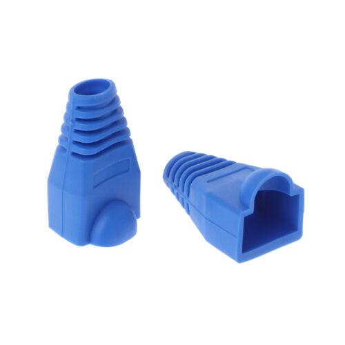100Pcs CAT5E CAT6 RJ45 Cap Ethernet Network Cable Strain Relief Boots Plug Cover