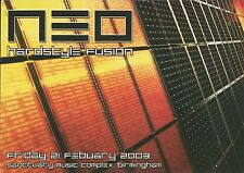 (RAVE FLYER 2003) NEO @ BIRMINGHAM THE SANCTUARY.  MARK EG. SCOTT BROWN. JON DOE