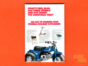 "Honda ATC70 Christmas Special brochure 2x3/"" fridge//locker magnet Holiday"