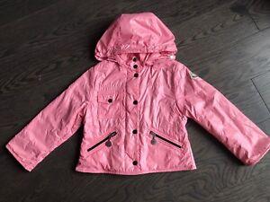 d70ebb0d7 Moncler Girl Pink Coat Jacket Raincoat Size 3