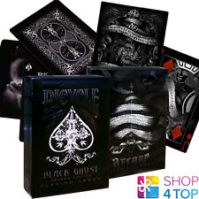 2 DECKS BICYCLE ELLUSIONIST 1 BLACK GHOST AND 1 ARCANE BLACK PLAYING CARDS NEW