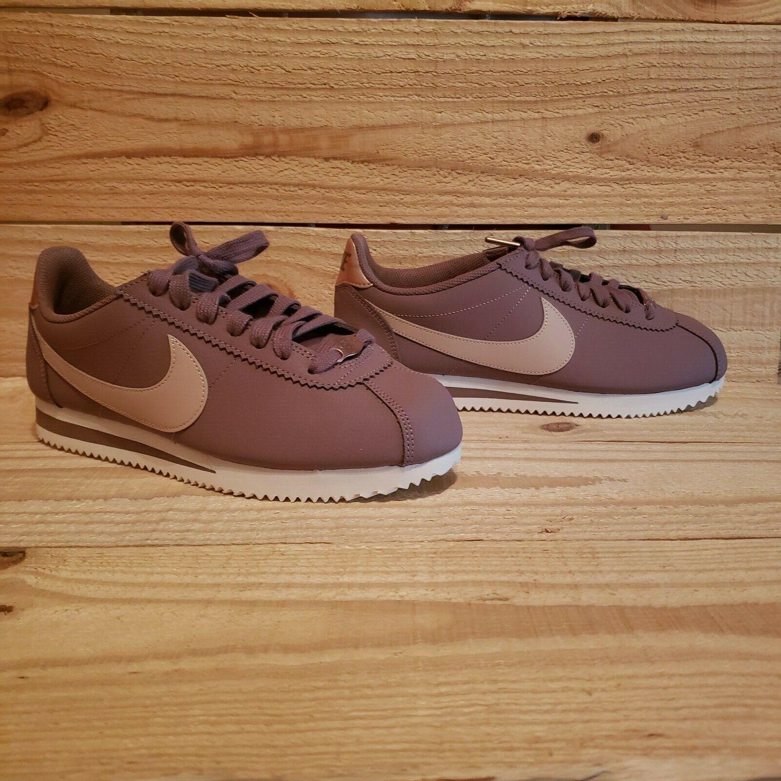 Nike Classic Cortez Leather shoes AV4618 200 200 200 Women Smokey Mauve 1810 Size Beige 456f41