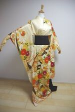 Kimono Dress Japan Furisode Geisha costume Vintage Japanese KDJM-F0007