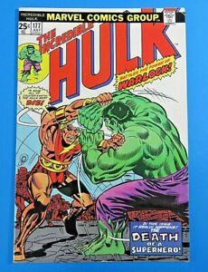 INCREDIBLE-HULK-177-1st-Death-Of-Warlock-KEY-1974-MARVEL-BRONZE-AGE-COMIC-NM