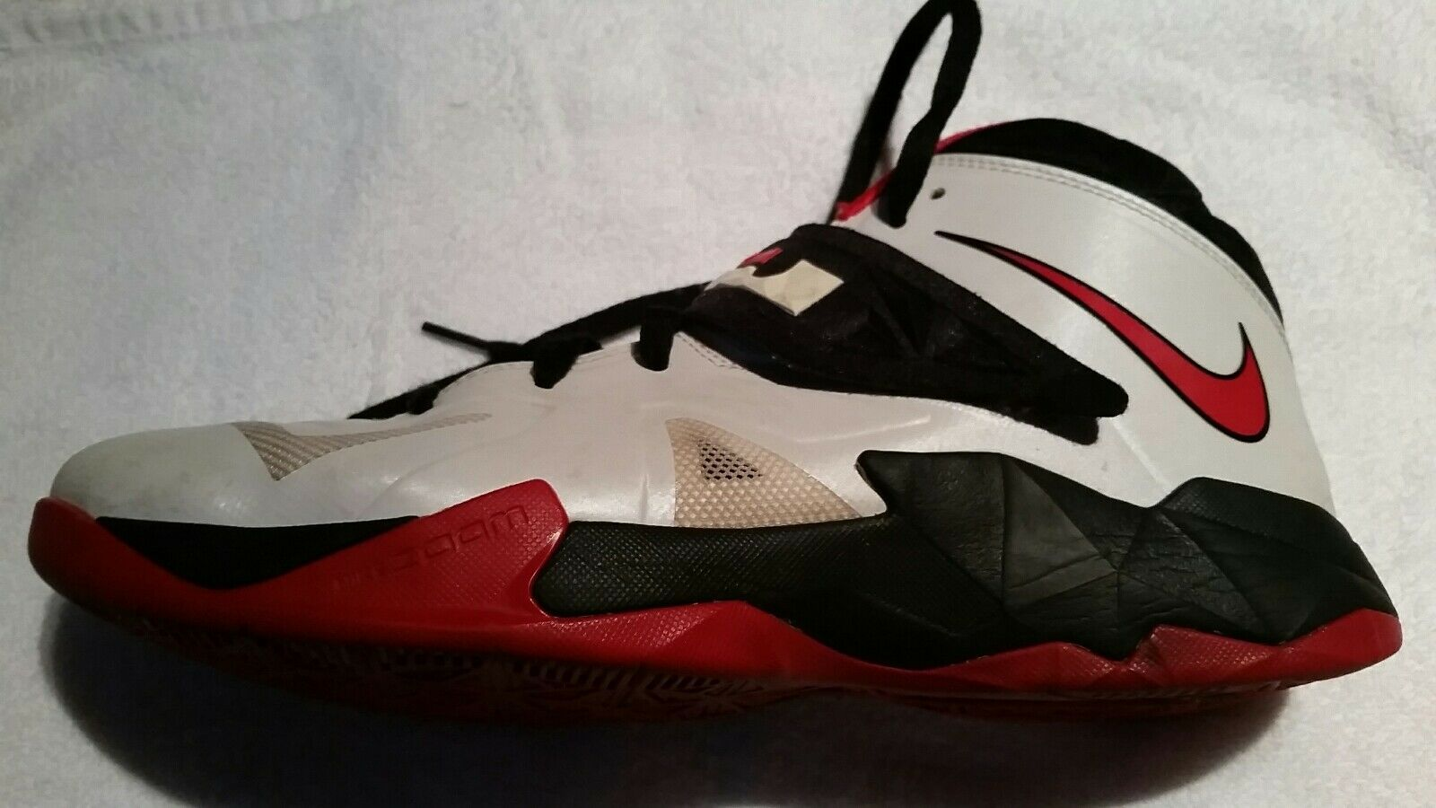 Nike Zoom Lebron Soldier VII 7 599264-100 Red White Black Basketball Shoes 12 Great discount