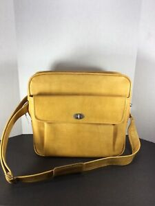 RARE-Vintage-Samsonite-Profile-Gold-Overnight-Carry-On-Luggage-Bag-With-KEY
