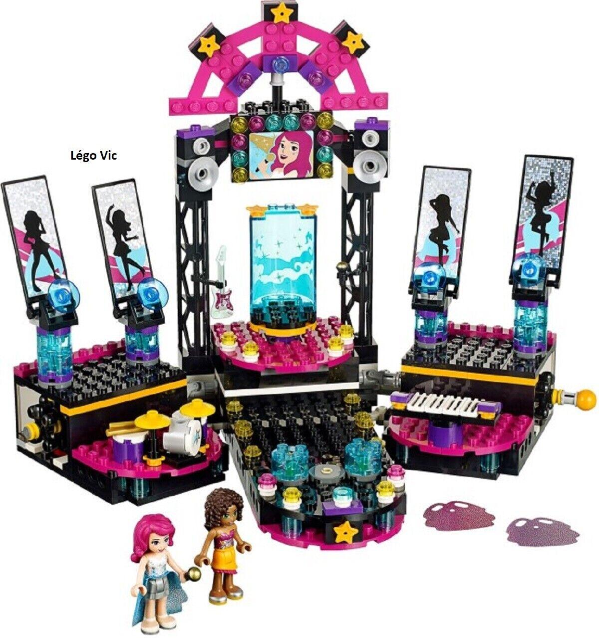 Lego 41105 Friends Pop Star Star Star Show Stage + Notice + Boite CNB20 d684b0