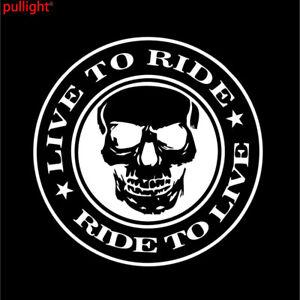 STICKER BLACK LOOK TWICE MOTORCYCLE SAFE HARLEY HELMET BIKE CAR UTE SUV 4WD TANK