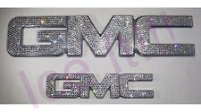 GMC YUKON Front & Rear Alluminum Emblem Swarovski Crystals