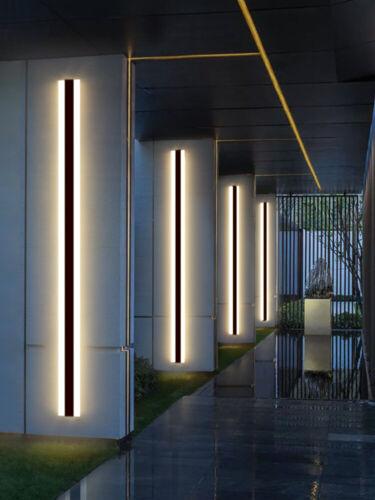 Modern LED wall lamp IP65W aterproof outdoor Long Strip Aluminum Wall Light Gard