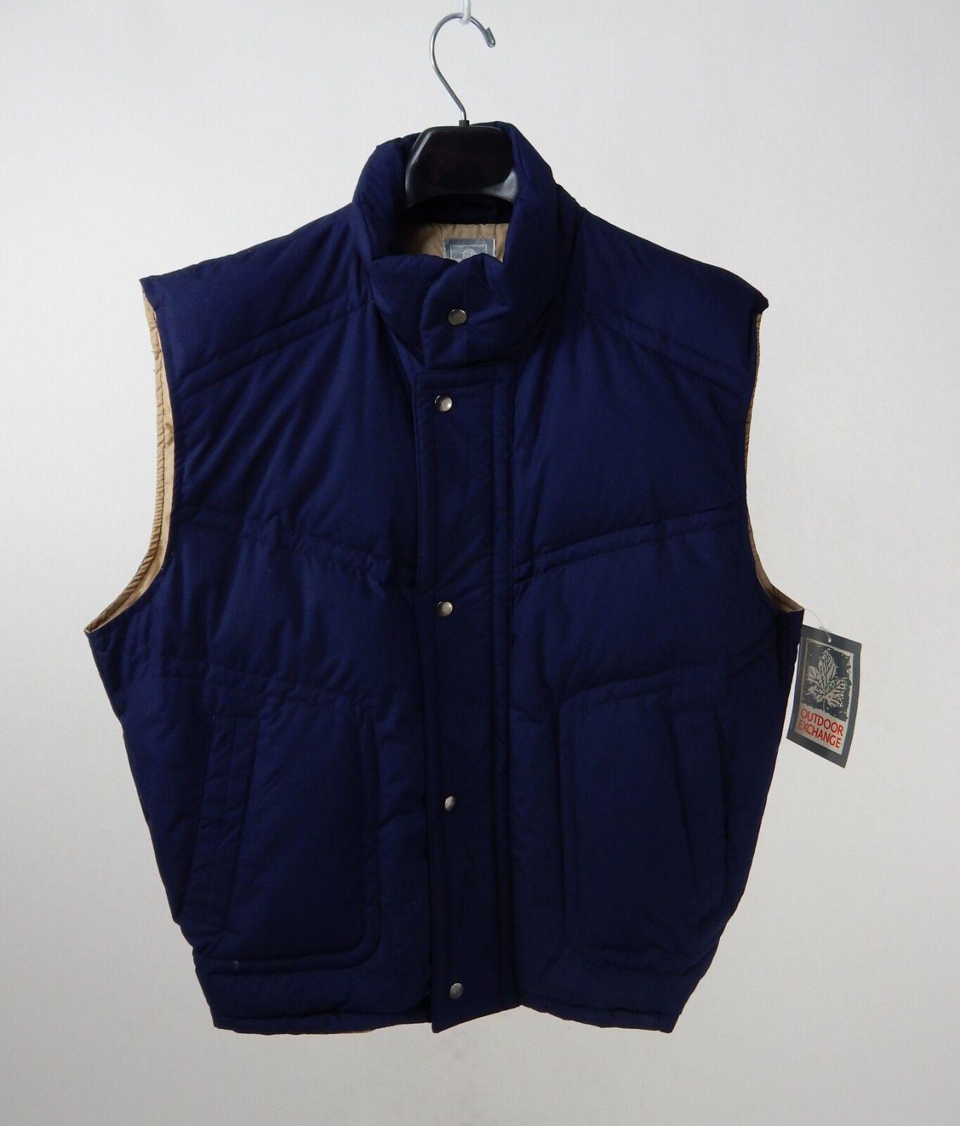Vintage Montgomery Ward Outdoor Exchange Puffer Vest Down Size XL