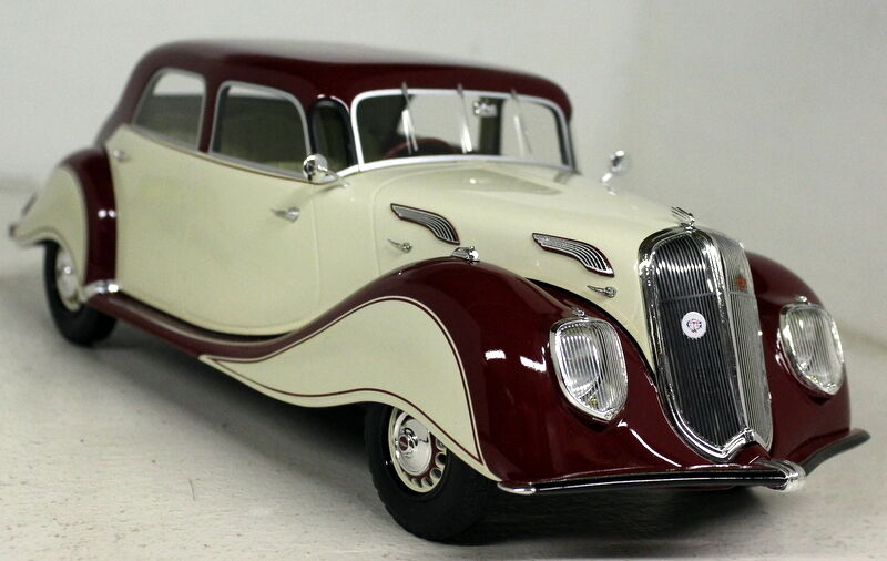 BoS 1 18 Scale Panhard Dynamic Beige   Dark Red Resin cast model Car