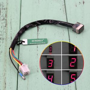 Universal Motorbike LED Digital Gear Indicator Display Shift 6 Lever Sensor    eBay   Gear Indicator Wiring Diagram      eBay