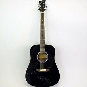 Los Lobos Signed Black JJ45-BK Acoustic Guitar w/ Soft Case