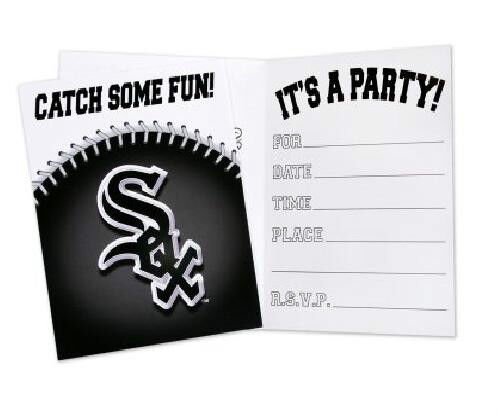 16 white sox invitations chicago baseball party mlb hallmark invites