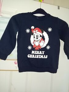 Disney-034-Mickey-Mouse-034-Christmas-Jumper-Age-6-Years