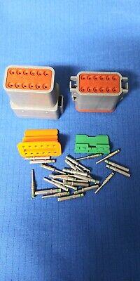 TE Connectivity 12 Position DT06-12SA /& DT04-12PA Set NEW Genuine Deutsch