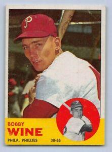 "1963  BOBBY WINE - Topps ""ROOKIE"" Baseball Card # 71 - PHILADELPHIA PHILLIES"