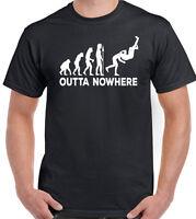 Outta Nowhere Mens Funny T-Shirt WWF WWE Wrestling Hogan Cena AJ Randy Orton RKO