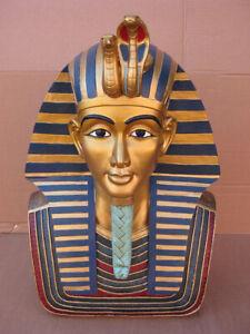 Maschera morti Egitto Faraone fa ench Amun, 49 cm!!, poliresina modello, Martello!!!