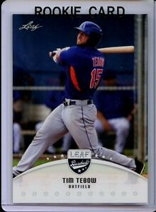 Details About Tim Tebow 2016 Leaf Draft Baseball 1st Ever Printed Rookie Card 2 Metsgators
