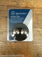 Genuine Mercedes Benz License Plate Security Caps, Stainless Steel
