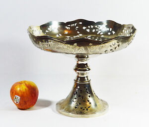 Smart 569 Grams Large Antique Chinese Export Sterling Silver Tazza Bowl By Zeewo Silver Asia