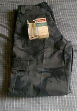 Men's Wrangler Cargo Pants Black Camo Loose Fit 6 Pockets Size 29X30