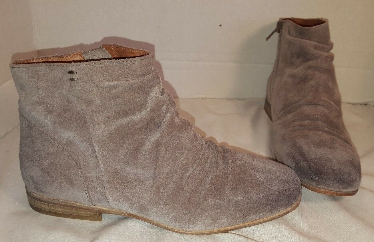 NEW FREE PEOPLE X JEFFREY CAMPBELL SPEIR LIGHT GREY SUEDE ANKLE BOOTS WOMEN'S 7