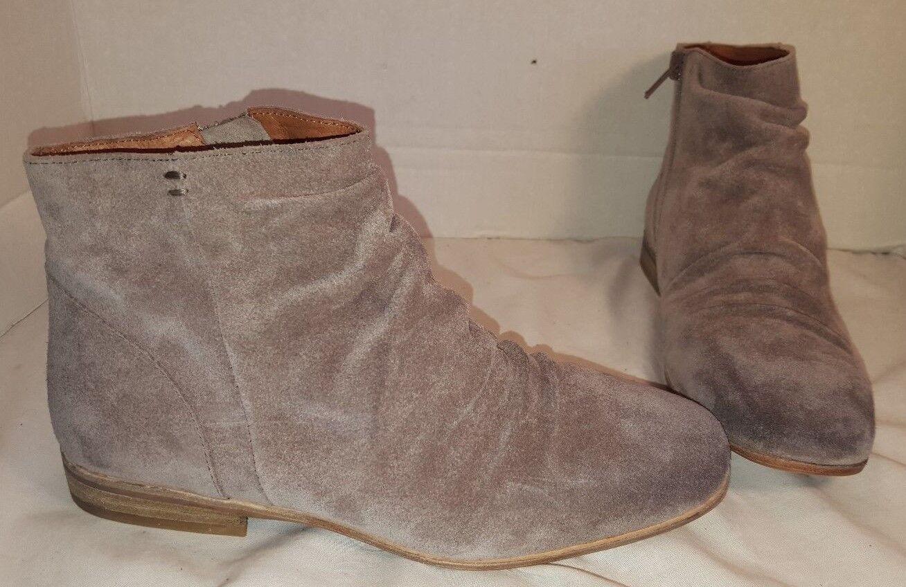 Nuevo Jeffrey Campbell Speir LIGHT gris gamuza tobillo botas botas botas para mujer 7  mejor marca