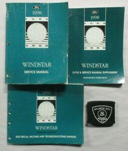 1998 FORD WINDSTAR SERVICE SHOP REPAIR MANUAL & ELECTRICAL ...