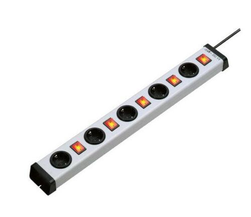 Steckdosenleiste 5 Sockel Einzeln schaltbar beleuchtet