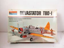 1/48 SCALE MONOGRAM DEVASTATOR TBD-1 CARRIER DOUGLAS TORPEDO BOMBER MODEL KIT #1