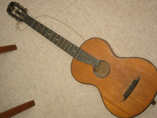 very old parlour guitar, 1 part back