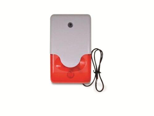 110 dB Alarmsirene mit Blitzlicht 12 V- weiß//rot