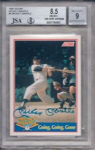 MICKEY-MANTLE-AUTOGRAPHED-SET-FOUR-M-ENTERPRISES-JSA-BGS-GRADED-amp-AUTHENTICATED
