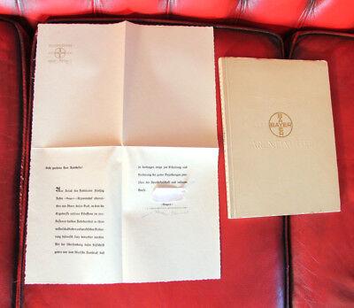 Festschrift Feines Handwerk Begeistert Fünfzig Jahre Bayer Arzneimittel 1888-1938 Buch Arzt & Apotheker