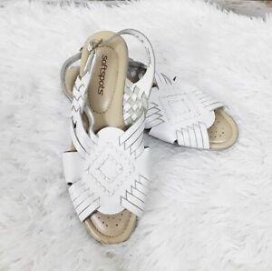 Softspots White Sandals Huaraches Size
