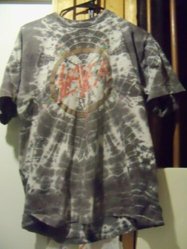 Vintage SLAYER tie dye T SHIRT XL - image 1