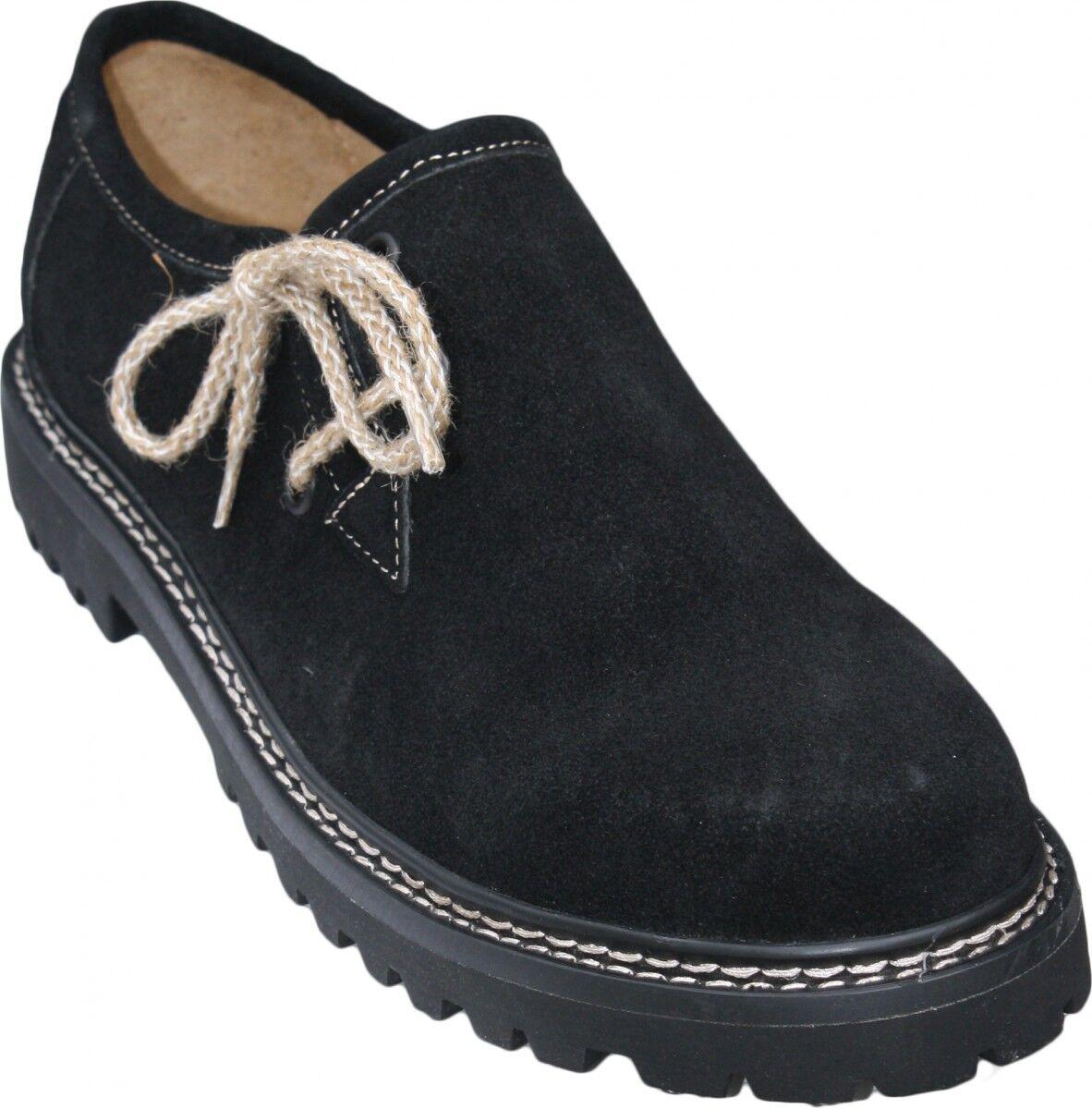 German Wear, Trachtenschuhe Schuhe Haferlschuhe echtem Leder Schuhe Trachtenschuhe juteschnüre Schwarz f6cf4f