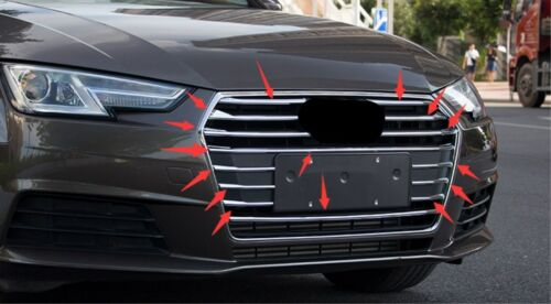 ABS Chrome Car Styling Center Grille Grill For Audi A4L A4 2017 2018