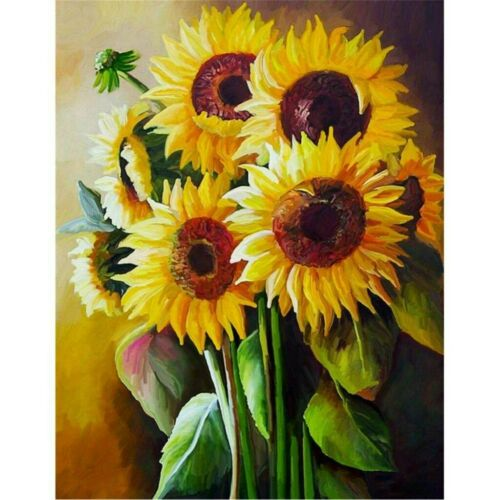 5D Diamond Painting Full Drill Embroidery Cross Stitch Kids Sunflowers Home DIY