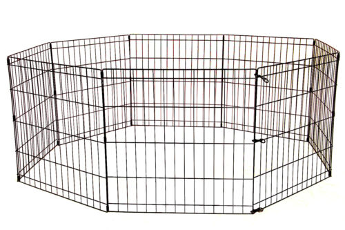 8 Panel 24 30 36 42 48 Tall Dog Playpen Crate Fence Pet Play Pen Exercise Cage