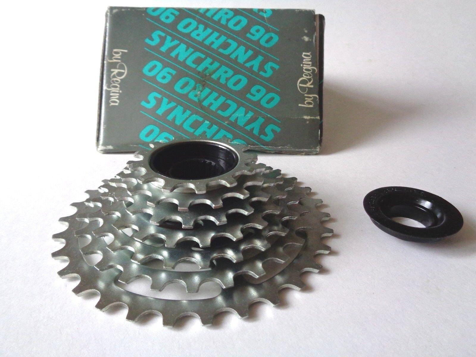 NOS Vintage 1980s REGINA SYNCHRO 90 13-31 cogs 7 Speed ISO freewheel cassette
