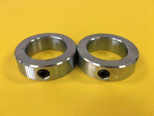 "2/"" Inch Solid Shaft Stop Collar 4pcs SC-200 Zinc Plated Set Screw"