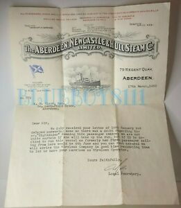 1938-Aberdeen-Newcastle-amp-Hull-Steam-company-Headed-letter-For-Wireless-operator