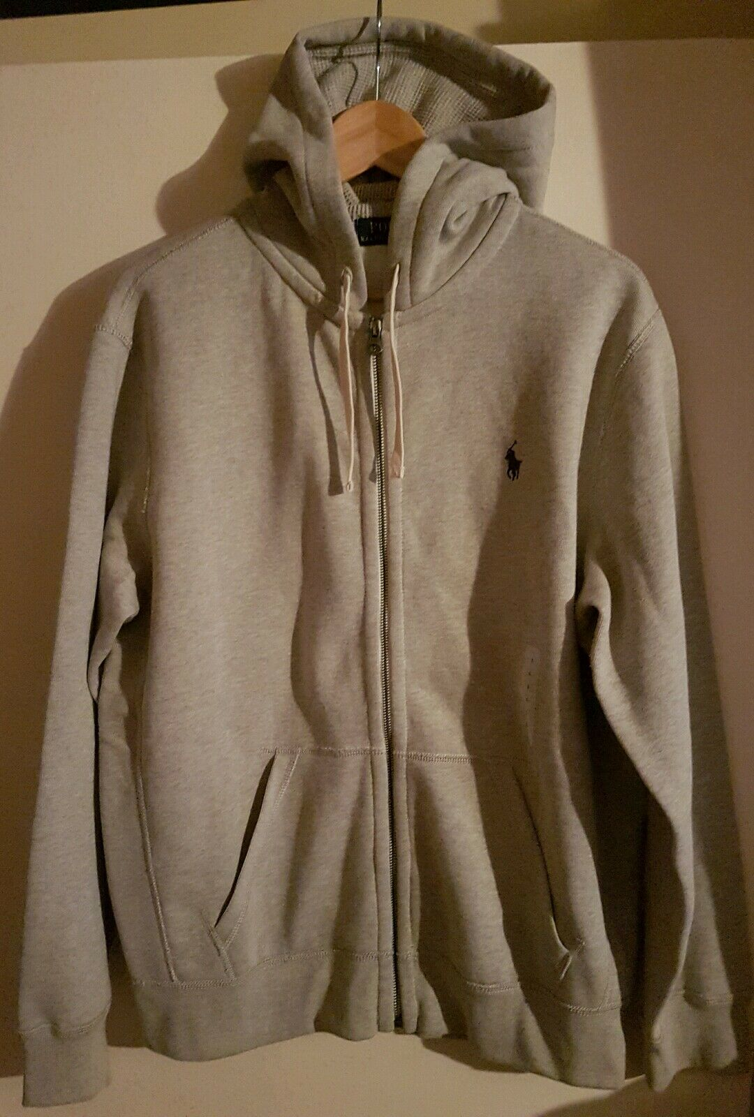 Polo Ralph Lauren herren grau Quality  Hoody Cardigan Top 2XL ONLY  WOW GENUINE