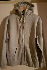 GENUINE Polo Ralph Lauren Mens Grey Hoody Jumper Cardigan Top Size XL SAVE £61